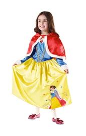 Детский костюм зимней белоснежки