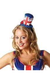 Мини шляпка флаг Англии