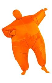 Оранжевый надувной костюм