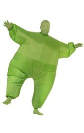 Зеленый надувной костюм