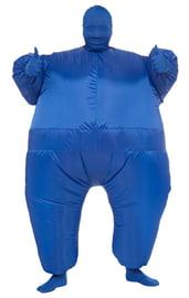Синий надувной костюм