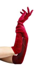 Красные вельветовые перчатки