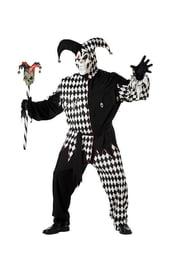 Черно-белый костюм злого шута PLUS