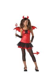 Красный костюм девочки дьяволицы