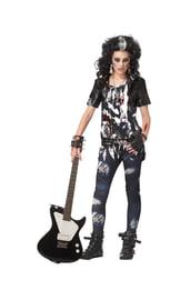 Подростковый костюм Зомби рокерши