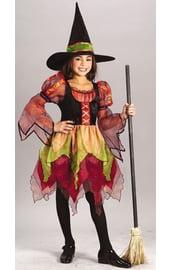 Разноцветный костюм ведьмы детский