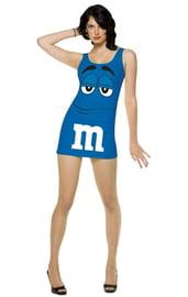 Костюм голубой конфеты M&M