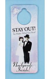 Табличка на ручку двери Новобрачные