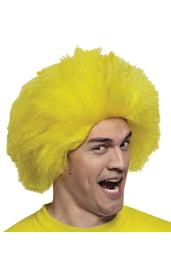Желтый парик веселого клоуна