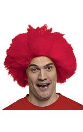 Красный парик веселого клоуна