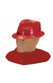 Шляпа федора красная