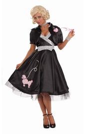 Черный костюм модницы 50-хх