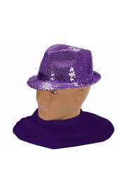 Шляпа федора фиолетовая