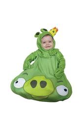 Зеленый костюм свинки из Angry Birds