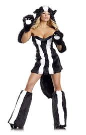 Пушистый костюм милашки скунса
