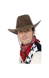 Замшевая шляпа ковбоя