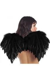 Перьевые крылья черного цвета
