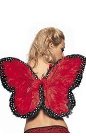 Перьевые крылья бабочки красные