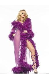Сетчатый пеньюар фиолетовый