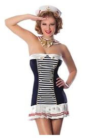 Бело-синий костюм морячки