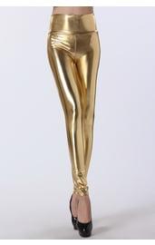 Блестящие золотые леггинсы