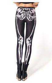 Черные леггинсы Скелетон