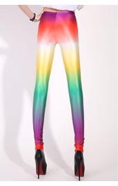 Разноцветные блестящие леггинсы