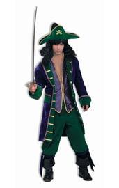 Бархатный костюм пирата сине-зеленый
