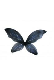 Детские черные крылья с блестками