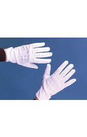 Театральные белые перчатки с застежкой