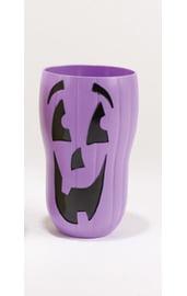 Стакан на Хэллоуин фиолетовая тыква