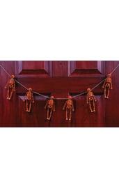 Гирлянда Оранжевые скелетоны с тыквой