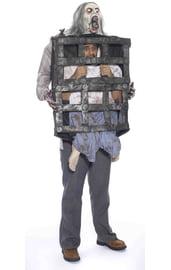 Костюм человека в клетке у зомби