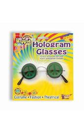 Карнавальные очки c голограммой