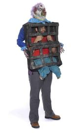 Костюм человека в клетке у клоуна
