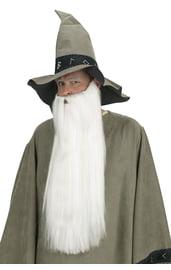 Длинная борода и усы белого цвета