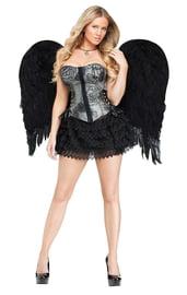 Черные перьевые крылья Ангела 90 см