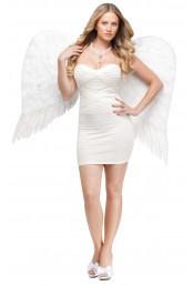 Белые перьевые крылья Ангела 90 см