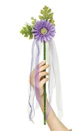 Цветочная палочка феи фиолетовая