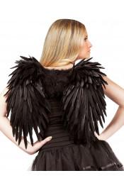 Ангельские перьевые крылья черные