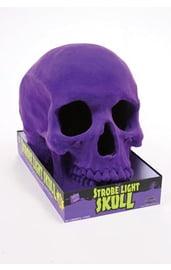 Светящийся череп с фиолетовым напылением