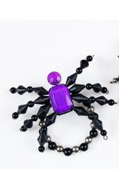 Браслет паук Фиолетовый