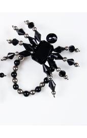 Браслет паук Черный