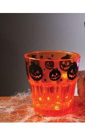 Оранжевый стакан с подсветкой