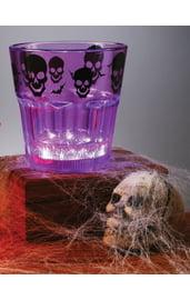 Фиолетовый стакан с подсветкой