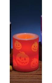 Светодиодная свеча с тыквами