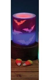 Светодиодная свеча с летучими мышами