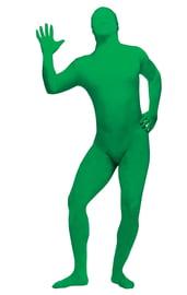 Костюм кожи Зентай зеленый