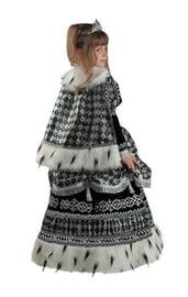 Костюм черной шахматной королевы детский