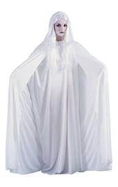 Белый плащ с капюшоном 173 см